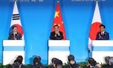 Chine, R. de Corée et Japon s'accordent à approfondir la coopération