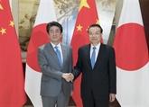 Chine - Japon : entretien entre Li Keqiang et Shinzo Abe