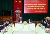 Quang Tri : la présidente de l'AN travaille avec la Permanence du Comité du Parti