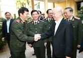 Nguyên Phu Trong apprécie les résultats de la Police