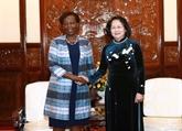 La vice-présidente vietnamienne Dang Thi Ngoc Thinh reçoit la secrétaire générale de l'OIF