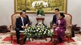 Le secrétaire général de la Commission d'organisation du Parti communiste chinois à Hô Chi Minh-Ville