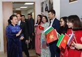 La présidente de l'AN rencontre des Vietnamiens au Tatarstan