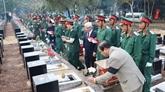 Inhumation des restes de 44 soldats tombés au Cambodge