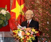 Le SG et président Nguyên Phu Trong formule les meilleurs vœux du Têt
