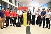 Les dirigeants de Vietjet Air rendent visite à l'aéroport Tân Son Nhât