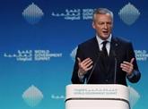Plaidoyer pour l'Europe du ministre français de l'Économie à Dubaï