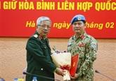 ONU: un autre officier vietnamien participe aux opérations de maintien de la paix