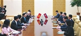 Le vice-Premier ministre et ministre des Affaires étrangères Pham Binh Minh en visite officielle en RPDC