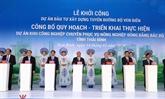 Le PM aux cérémonies de lancement des projets économiques importants à Thai Binh