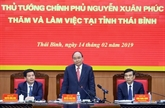 Le Premier ministre salue les réalisations socio-économiques de Thái Binh