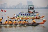 Festival de courses des bateaux-dragons de Hanoï élargi 2019
