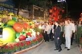 Ouverture de rues florale et lumineuse à Cân Tho