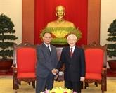 Le secrétaire général et président se félicite de l'essor des liens avec le Laos