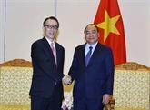 Le PM Nguyên Xuân Phuc reçoit le directeur général de la banque japonaise MUFG