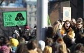 Canada: manifestation de lycéens pour le climat à Montréal