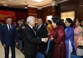 Le dirigeant Nguyên Phu Trong poursuit sa visite officielle d'amitié au Laos
