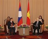 Le dirigeant Nguyên Phu Trong reçoit le président du Front d'édification nationale du Laos