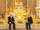 Entretien Nguyên Phu Trong - Norodom Sihamoni