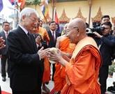 Nguyên Phu Trong rencontre les bonzes supérieurs cambodgiens