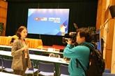 Sommet États-Unis - RPDC: des journalistes au micro
