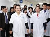 La présidente de l'Assemblée nationale encourage le développement de la médecine traditionnelle