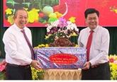 Des dirigeants présentent leurs vœux du Têt à Long An, Vinh Phuc et Kiên Giang
