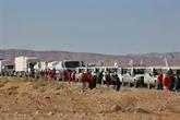 Une aide humanitaire acheminée vers un camp de déplacés