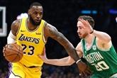 NBA: les Lakers écœurent les Celtics dans leur salle