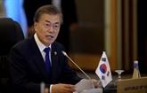 Moon Jae-in parle de progrès