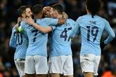 Ligue des champions: Manchester City, sept buts pour voir les quarts