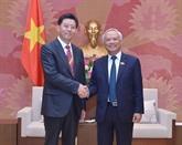 Le vice-président de l'AN, Uông Chu Luu, reçoit une délégation chinoise