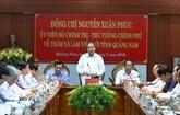 Le Premier ministre Nguyên Xuân Phuc en visite de travail à Quang Nam
