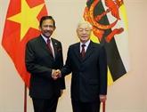 Le sultan du Brunei, Haji Hassanal Bolkiah, termine sa visite d'État au Vietnam