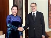 Entrevue entre Nguyên Thi Kim Ngân et Saadeddine Othmani