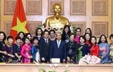 Le Premier ministre apprécie le rôle des femmes d'affaires du Vietnam