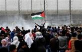 Gaza: manifestations massives à la frontière israélienne
