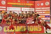 Le Vietnam, champion du tournoi international de football U19