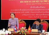 La présidente de l'AN laotienne en visite de travail à Lâm Dông