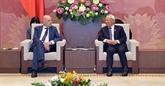 Un vice-président de l'AN reçoit le groupe d'amitié Belgique - Vietnam