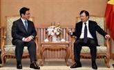 Le vice-Premier ministre Trinh Dinh Dung reçoit un dirigeant du japonais JBIC