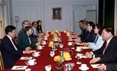 Rencontre entre Nguyên Thi Kim Ngân et des dirigeants de Safran