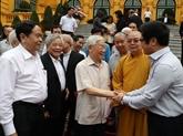 Nguyên Phu Trong rencontre des représentants du Front de la Patrie