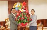 Le Vietnam félicite le Laos pour le Nouvel An traditionnel