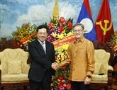 Fête de Bunpimay: le vice-PM Pham Binh Minh se rend à l'ambassade du Laos