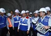 Le Premier ministre sur le chantier de la ligne de métro