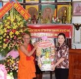 Chol Chnam Thmay: une délégation du CC du FPV se rend à Bac Liêu