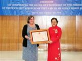 L'Ordre d'amitié à une Américaine au chevet des victimes vietnamiennes de la dioxine