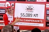 Record de l'heure: Campenaerts bat Wiggins et dépasse les 55 km