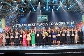 Valorisation des 100 meilleurs lieux de travail au Vietnam en 2018